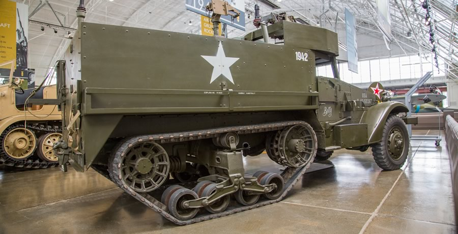 "White M3A1 ""Half-Track"" Personnel Carrier"